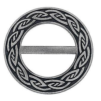 Celtic Annulus Round Pewter Scarf Ring (7732)