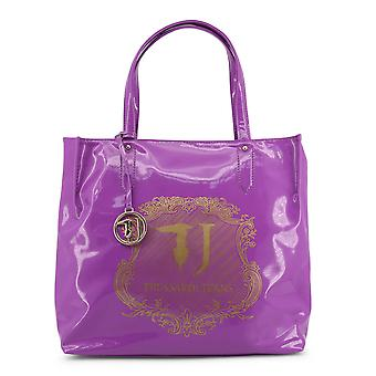 Trussardi Original Women Spring/Summer Shopping Bag - Violet Color 33825