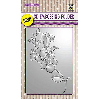 Nellie's Choice 3D Emb. folder Branch with Flowers EF3D005 105x148mm