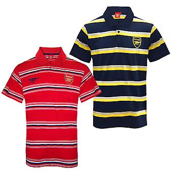 Arsenal FC officiella fotboll Gåva Mens Randig Polo Shirt
