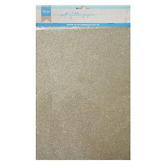 Marianne Design Decoration Soft Glitter paper 5sh - Platinum CA3144 A4