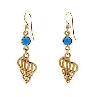 Gemshine Maritim Beach earrings turquoise shell, silver, gold plated or rose