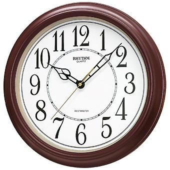 Rhythm 7269/20 Wall clock Quartz analog brown round with melody