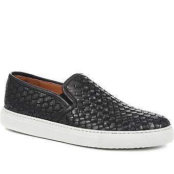 Jones Bootmaker Mens Remy Leather Slip-On Trainer