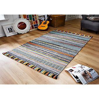 Kelim STREIFEN KOHLE Rechteck Teppiche moderne Teppiche