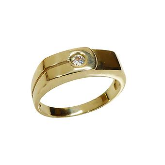 Gold cachet ring with zirkonia