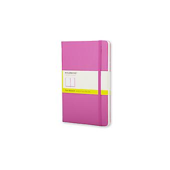 Moleskine classic notebook large plain with hard cover - magenta