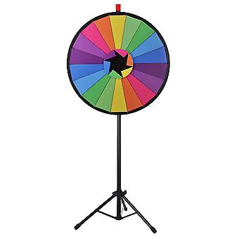 """WinSpin® 30"""" Editable Color Prize Wheel of Fortune 18 Slot Floor Stand Tripod Spin Game Tradeshow Carnival"""