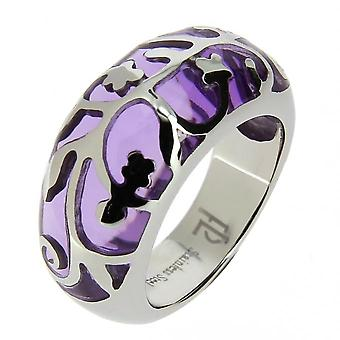 JB08A44-52 anillo de acero púrpura y rine
