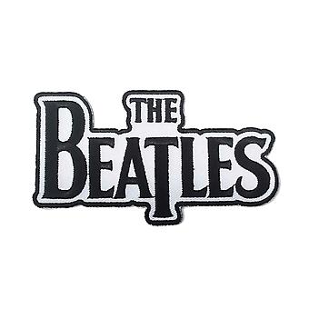 The Beatles Patch Classic Drop T Band Logo Black new Official Die Cut Sew On