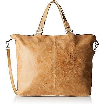 Chicca Bags 80055 Women's Orange shoulder bag (Leather) 47x34x15 cm (W x H x L)