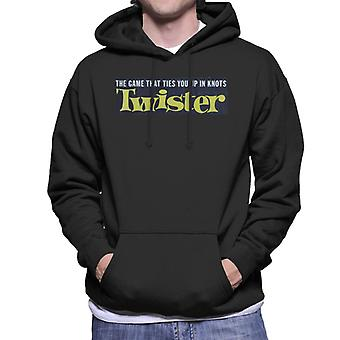 Twister In Knots Yellow Logo Men's Hooded Sweatshirt