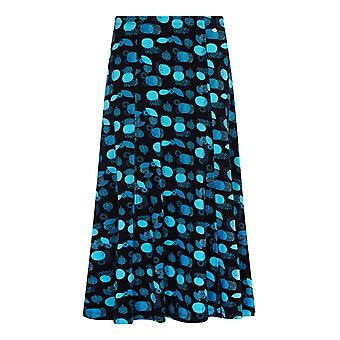 TIGI Navy Leaf-Print Skirt Short
