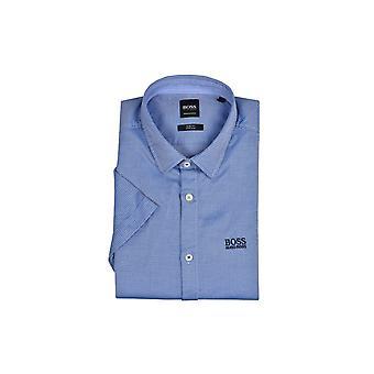 BOSS athleisure hugo boss Brodi_s stretch slim fit lyhythihainen paita keskipitkän sininen