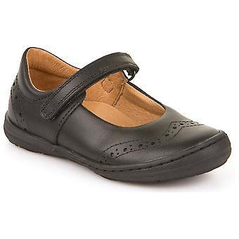 Froddo Girls G3140077 School Shoes Black Leather