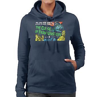 Hammer Horror Films Curse Of Frankenstein Chained Hand Women's Hooded Sweatshirt