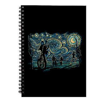 Stranger Night Stranger Things Van Gogh Mashup Spiral Notebook