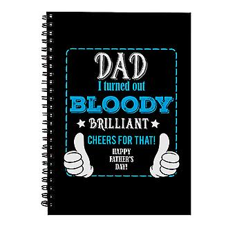 Pappa Jeg viste seg blodig strålende spiral notatbok
