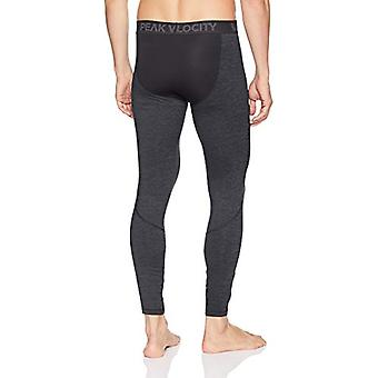 Peak Velocity Men's Thermal Cold-weather Athletic-Fit Tight, Black Heather, X...