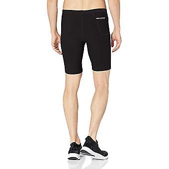 "Essentials Men's Running 9"" Short Active Tight, Black, X-Small"
