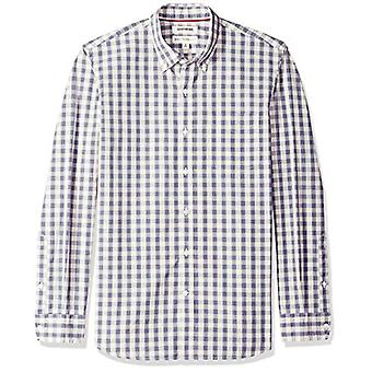 Goodthreads Men's Standard-Fit Langarm kariertes Poplin Shirt mit Button-Down Kragen, Elfenbein-Check, XX-Large