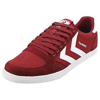 hummel Slimmer Stadil Low Mens Casual Trainers in Burgundy