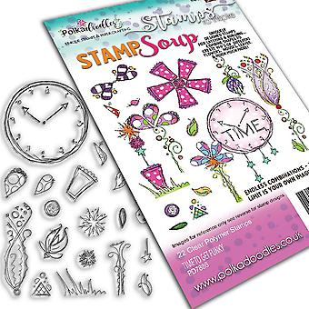 Polkadoodles Time to get Funky Stamp Soup