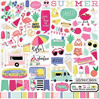 Echo Park beste Sommer überhaupt 12 x 12 Zoll Element Aufkleber