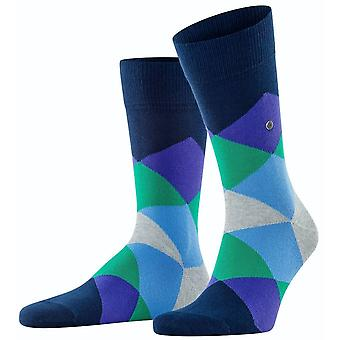 Burlington Clyde Socks - Marine/Pruple/Green