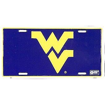 West Virginia Mountaineers NCAA License Plate