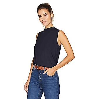 Marca - Daily Ritual Women's Jersey Sleeveless Boxy Mock-Neck Shirt, N...