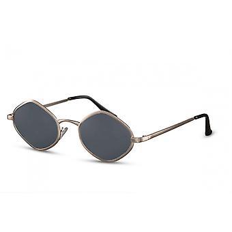 نظارات شمسية Unisex البيضاوي Cat.3 الذهب / الرمادي (CWI2296)