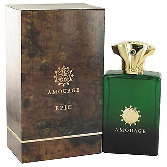Amouage Epic Eau De Parfum Spray By Amouage 3.4 oz Eau De Parfum Spray