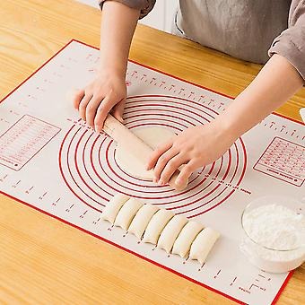 40x60cm Silicone Pastry Mat with Measurement Red