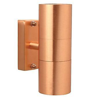 Outdoor Cylinder Up / Down Wall 2 Licht Koper IP54, GU10