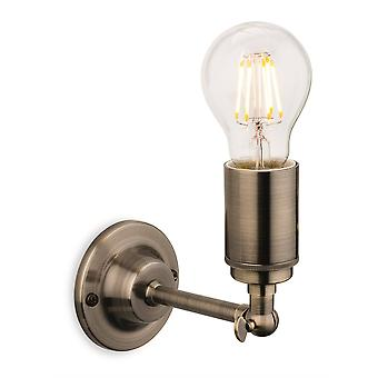 Firstlight Indy - 1 Light Indoor Candle Wall Light Antique Brass, E27