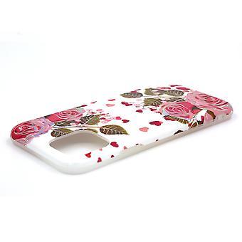 iPhone 11 Pro powłoka z uchwytem Biały / Kwiatowy