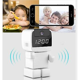 Ip Camera Wireless Robot Wi-fi Clock