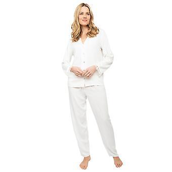 Cyberjammies Nora Rose Jennifer 1449 Frauen's Rich Cream Herringbone Pyjama Set