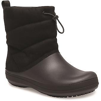 كروكس النساء Crocband خفيفة الوزن دافئ دافئ نفخة الأحذية