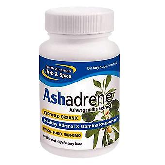 Norte-americana Herb & Spice Ashadrene, 60 Caps