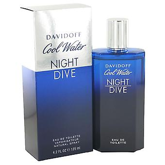 Cool Water Night Dive Eau De Toilette Spray By Davidoff 4.2 oz Eau De Toilette Spray