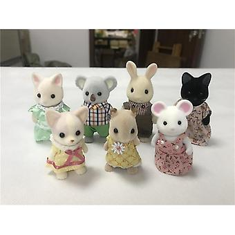 Geniune Sylvanian Familien- 10pcs Furry Action Figuren Hunde / Squrriels / Bär