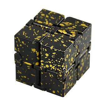 Mini Stress Relief Toy Premium Metal Infinity Cube Portable Decompresses Relax