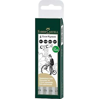 Faber Castell Ecco Pigment Fineliner Pen Set of 4