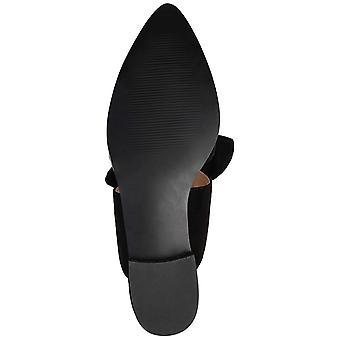 Brinley Co Women's Shoes TAISIE-BLK-085 النسيج وأشار شرائح الشرائح