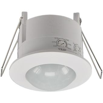 Ceiling installation motion detector 360° LED suitable, 6m detection, white
