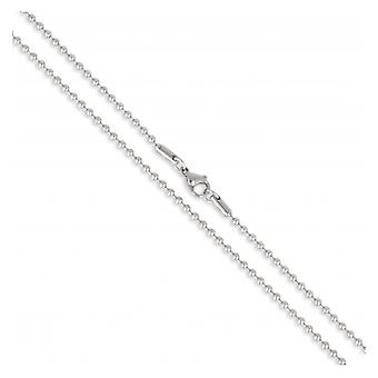 Ball necklace 2.4mm Stainless Steel 316l 55cm