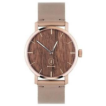 Reloj BeWooden Rosa - Oro Rosa/Gris/Marrón
