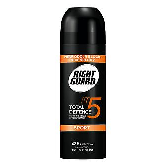 Right Guard 3 X Right Guard Total Defence Deodorant Aerosol For Men - Sport